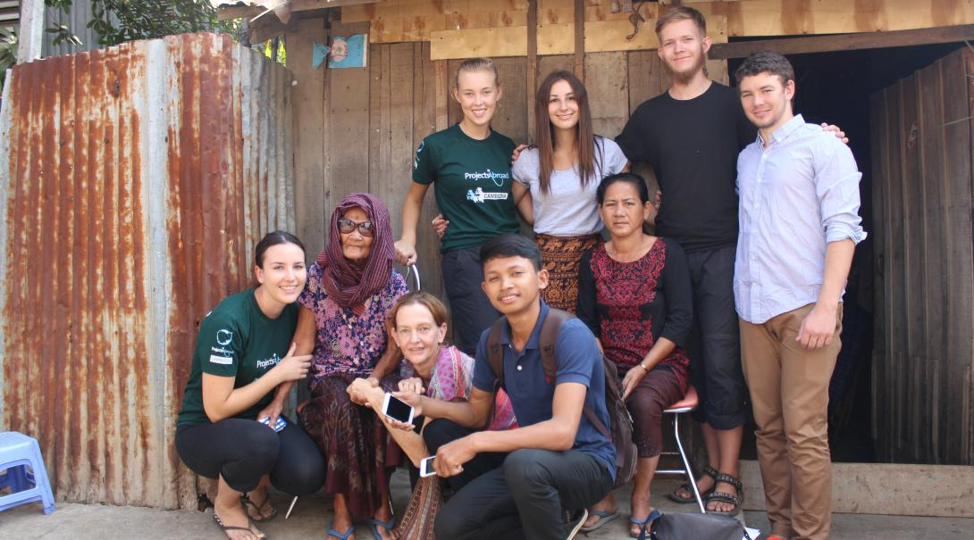 Volunteers receive in-country support from local staff and host families in Cambodia